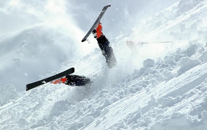 ski fall